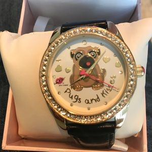 Betsey Johnson Pugs and Kisses Women's watch
